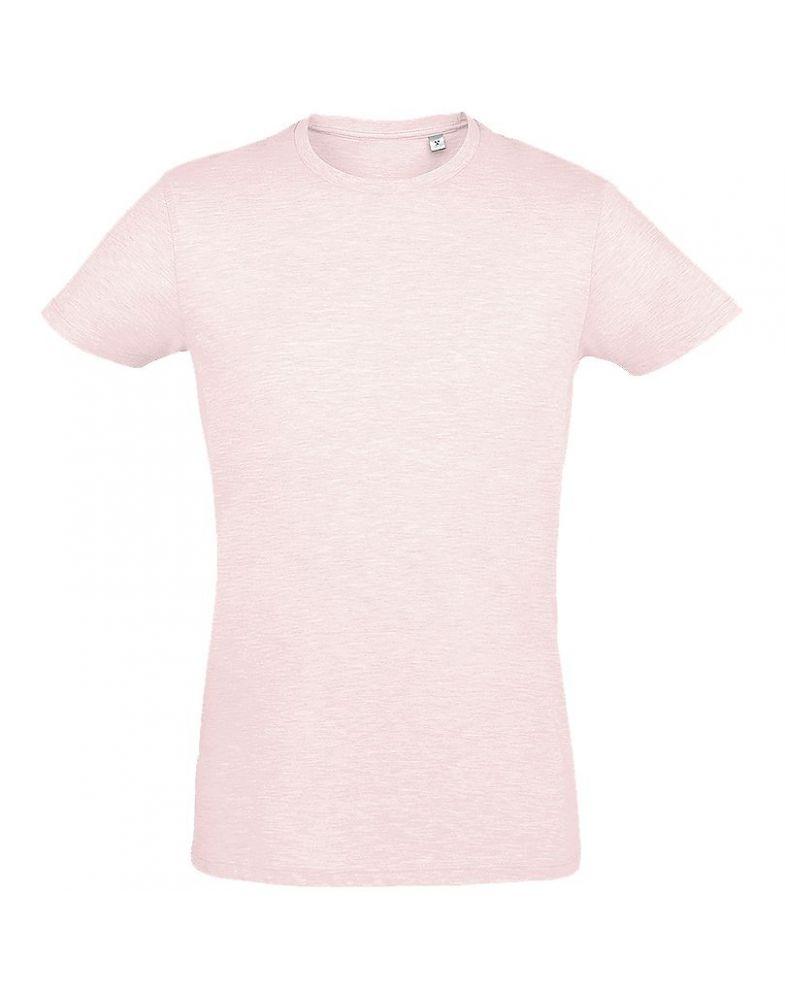 Футболка мужская приталенная REGENT FIT 150, розовый меланж