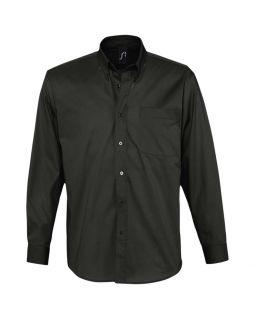 Рубашка мужская с длинным рукавом BEL AIR, черная