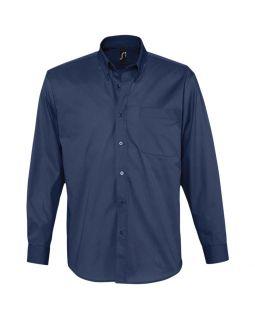 Рубашка мужская с длинным рукавом BEL AIR, темно-синяя (кобальт)