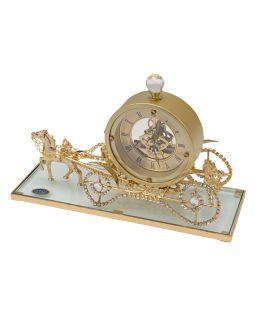 Интерьерные часы Карета прозрачный/золотистый