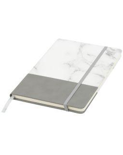 Двухцветная записная книжка A5, серый