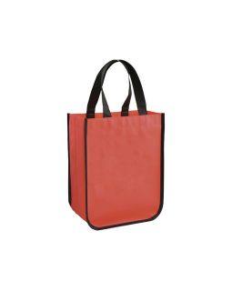 Маленькая ламинированная сумка для покупок, красный