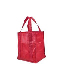 Ламинированная сумка для покупок, красный