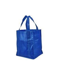 Ламинированная сумка для покупок, ярко-синий