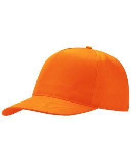 Бейсболка Poly 5-ти панельная, оранжевый