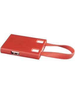 USB Hub и кабели 3-в-1, красный