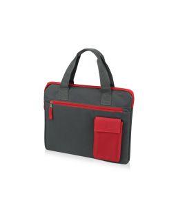 Конференц сумка Session, серый/красный