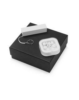 Подарочный набор Non-stop music с наушниками и зарядным устройством, белый