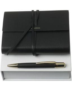 Набор Pensee: блокнот А6 и ручка, черный