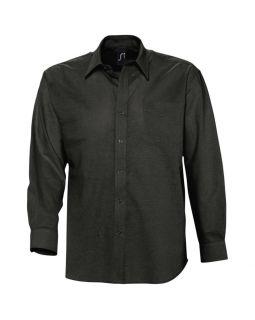 Рубашка мужская с длинным рукавом BOSTON, черная