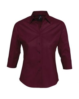 Рубашка женская с рукавом 3/4 Effect 140, бордовая