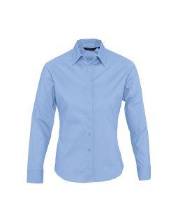 Рубашка женская с длинным рукавом Eden 140 голубая