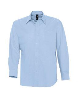 Рубашка мужская с длинным рукавом BOSTON, голубая