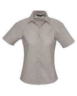 Рубашка женская с коротким рукавом Elite, серая
