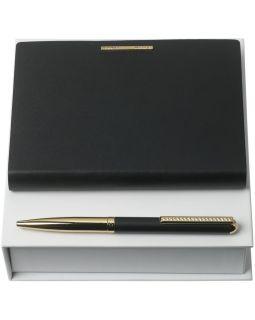 Набор Barrette Noir: блокнот А6 и ручка, черный