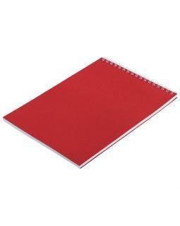 Блокнот Nettuno в клетку, красный