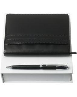 Набор Club: блокнот А6 и ручка, черный