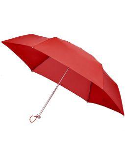 Складной зонт Alu Drop S, 3 сложения, механический, красный