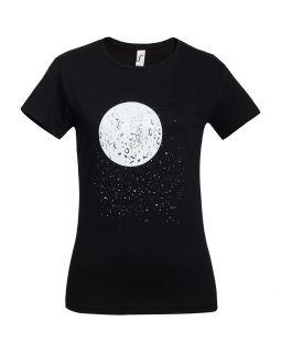 Футболка женская «Что вечно под Луной» с люминесцентным принтом