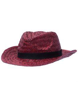 Шляпа Daydream, красная с черной лентой