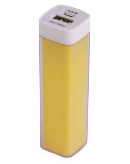 Bнешний аккумулятор Bar, 2200 mAh, ver.2, желтый