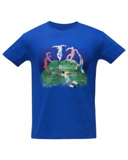 Футболка «Футбол via Матисс» 190, ярко-синяя