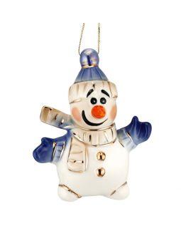 Фарфоровая елочная игрушка Olaf