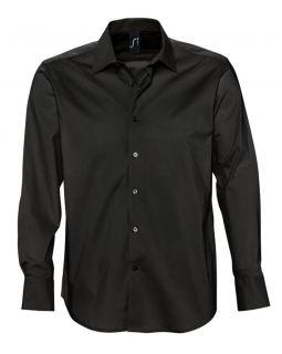 Рубашка мужская с длинным рукавом Brighton, черная