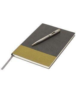 Блокнот А5 Gold lines, серый/золотистый