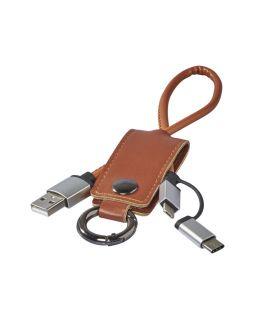 Кабель для зарядки Posh 3-в-1, коричневый