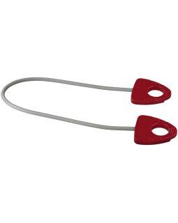 Резинка для занятий йогой Dolphin с ручкой, красный