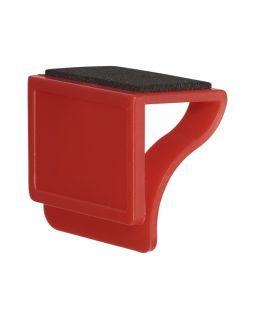 Блокировщик камеры с мягкой стороной, предназначенной для очистки монитора, красный