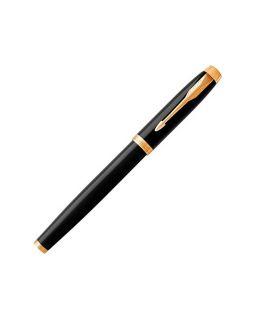 Ручка-роллер Parker (Паркер) IM Core Black GT, черный/золотистый