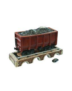 Штоф Вагон на мосту с углем  (цветной с золотом), 0,75л