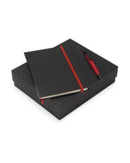 Подарочный набор Jacque с ручкой-подставкой и блокнотом А5, красный