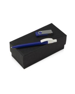 Подарочный набор Uma Memory с ручкой и флешкой, синий