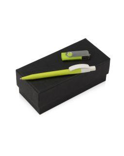 Подарочный набор Uma Memory с ручкой и флешкой, зеленое яблоко