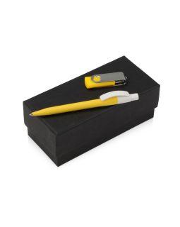 Подарочный набор Uma Memory с ручкой и флешкой, желтый