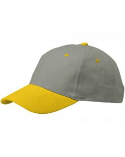 Бейсболка Grip, серый/желтый