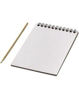 Цветной набор Scratch: блокнот, деревянная ручка