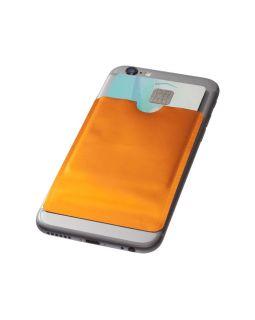 Бумажник для карт с RFID-чипом для смартфона, оранжевый