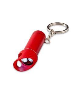 Брелок-фонарик Lobster с функцией открывалки, красный