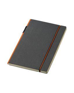 Блокнот А5 Cuppia, черный/оранжевый