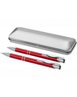 Набор Dublin: ручка шариковая, карандаш механический, красный