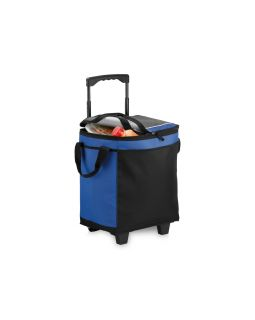 Сумка-холодильник на роликах на 32 банки, ярко-синий/черный