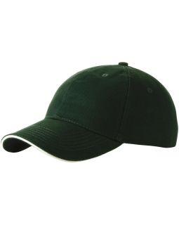 Бейсболка Challenge 6-ти панельная, зеленый/натуральный