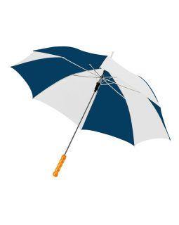 Зонт-трость Lisa полуавтомат 23, синий/белый (Р)