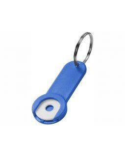 Брелок-держатель для монет Shoppy, ярко-синий