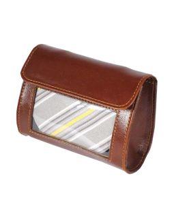Футляр для галстука Alessandro Venanzi, коричневый