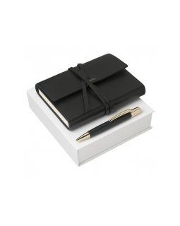 Набор: блокнот A6, ручка шариковая. Nina Ricci, черный